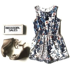 Anthropologie Copper Key Romper Large
